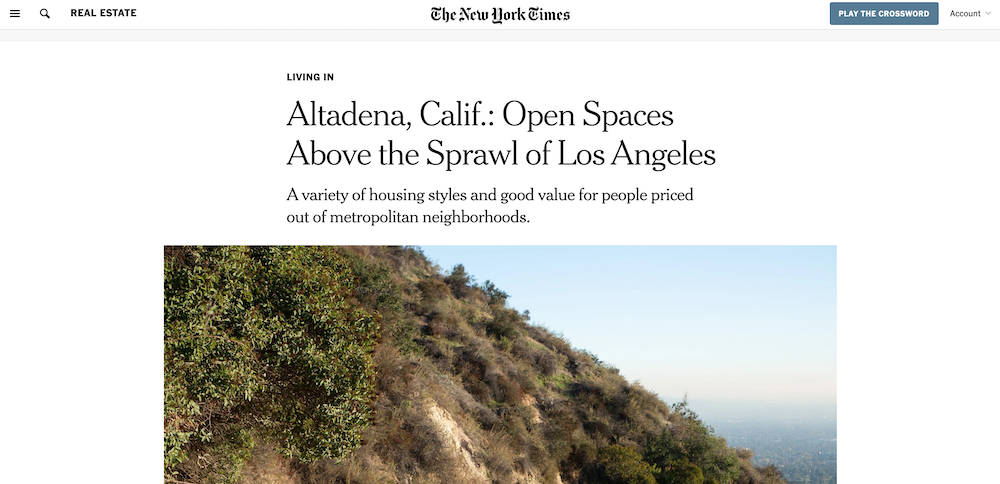 The NY Times Interviews Tracy & Our Clients About Altadena