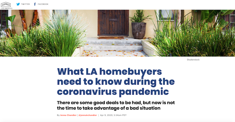 CurbedLA Talks to Tracy About Buying a House in a Pandemic