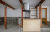 Studio with kitchenette