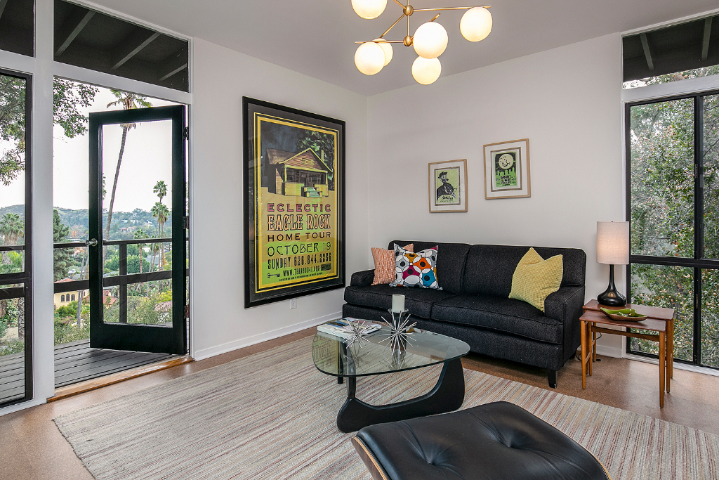 Midcentury With Views In Eagle Rock - Nela-king-modern-eclectic-home
