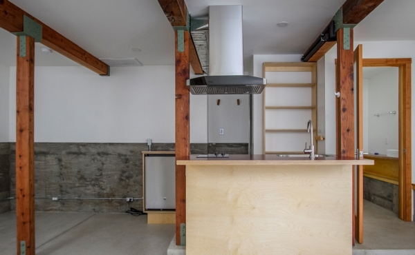 Studio with kitchenette