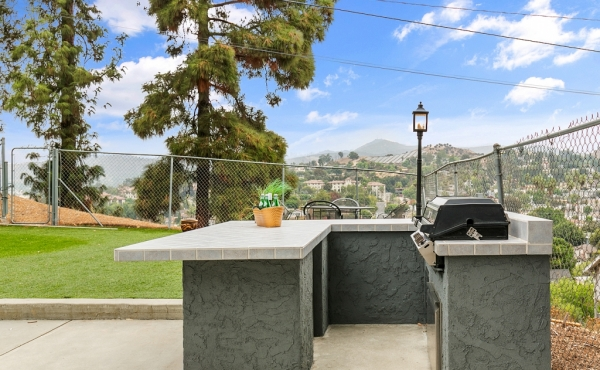 Back Yard with Outdoor Kitchen