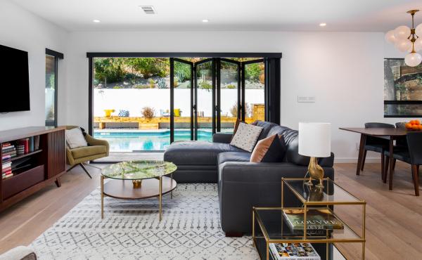 Living Room with La Cantina Doors