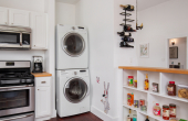 Stackable Laundry in Kitchen